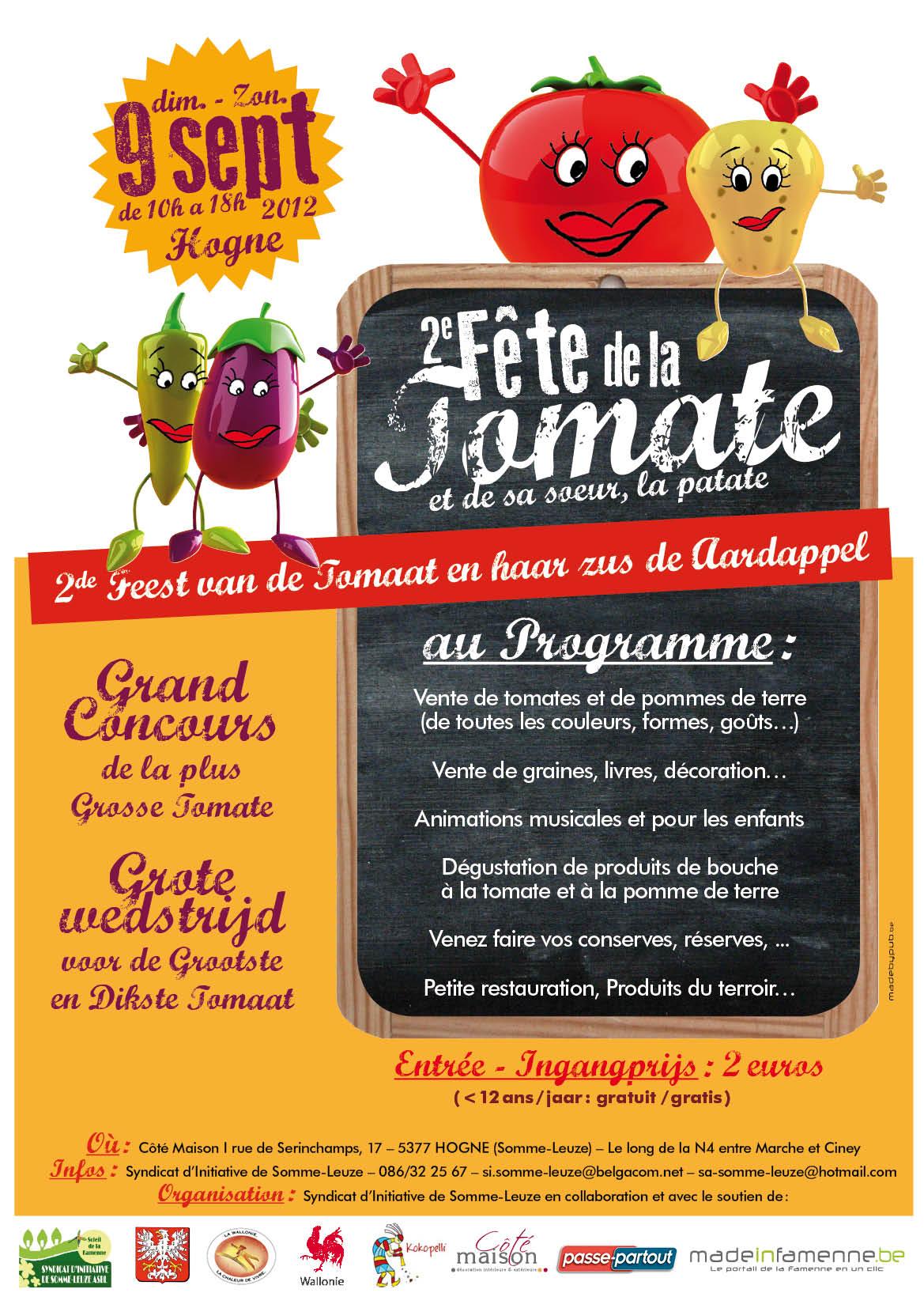 affiche fete tomate hogne